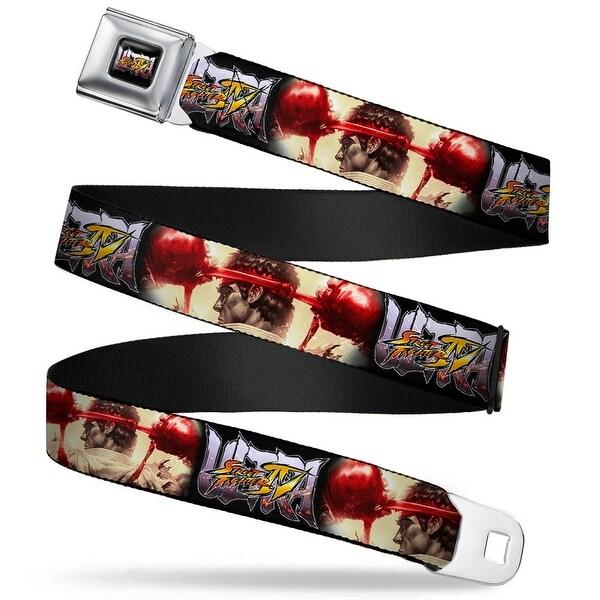 Ultra Street Fighter Iv Logo Full Color Black Ultra Street Fighter Iv Ryu Seatbelt Belt