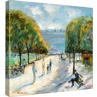 "PTM Images 9-97747  PTM Canvas Collection 12"" x 12"" - ""Parisian Afternoon IV"" Giclee Paris Art Print on Canvas"