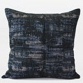 "G Home Collection Luxury Blue Mix Color Metallic Chenille Pillow 22""X22"" - Thumbnail 0"