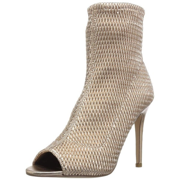 Jane Quilted Peep Toe Ankle Boot