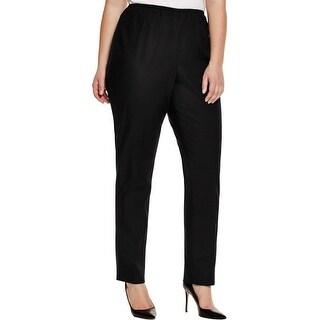 Nic + Zoe Womens Plus Dress Pants Flat Front Solid