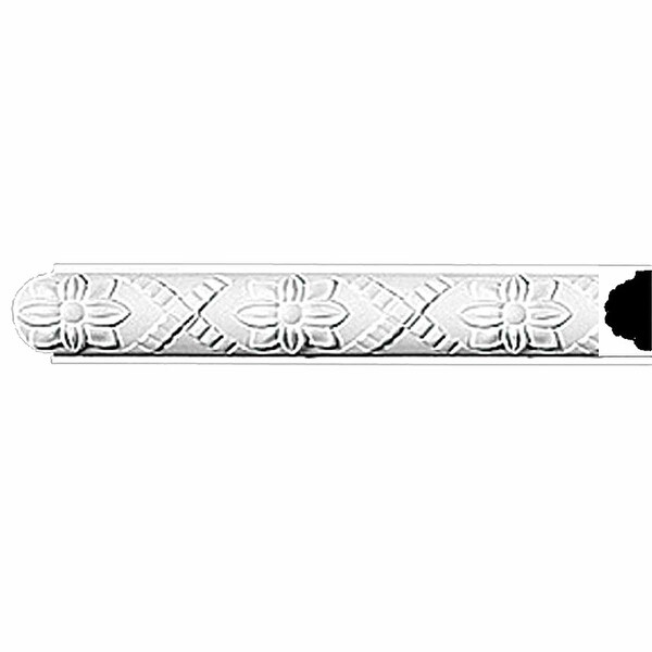 "Crown Molding White Urethane 1 3/4"" H Trenton Ornate | Renovator's Supply"