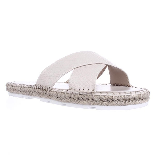 Nine West Demetria Flat Slide Sandals, Off White