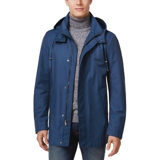 Ralph Lauren Hooded Water Repellent Raincoat Marine Blue 42 Long 42L