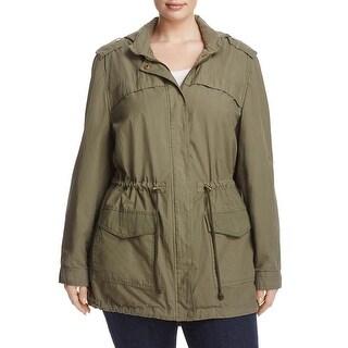 Bagatelle Womens Plus Anorak Jacket Adjustable Hooded