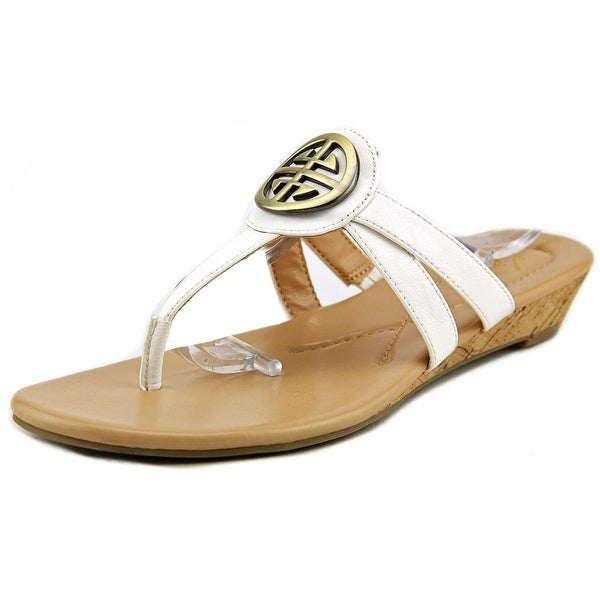 Kim Rogers Hancy Women Open Toe Synthetic White Wedge Sandal