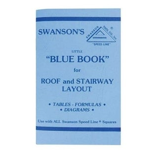 Swanson P0110 Little Blue Book of Instructions for Roof and Stairway Layout