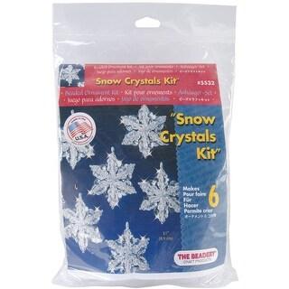 "Holiday Beaded Ornament Kit-Snow Crystals 3.5"" Makes 6"