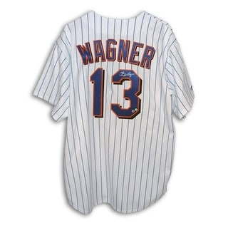 Autographed Billy Wagner New York Mets White Pinstripe Majestic Jersey