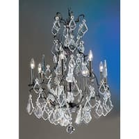 """Classic Lighting 8007 33"""" Crystal Cast Brass Chandelier from the Versailles Collection - Aged Bronze"""