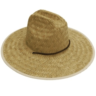 Easy Gardener MS0003 Mens Straw Hat Flat Weave, One Size