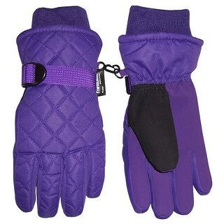 NICE CAPS Kids Unisex Thinsulate and Waterproof Quilted Ski Gloves