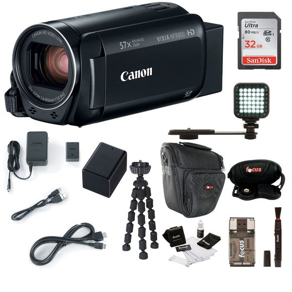 Canon VIXIA HF R800 Camcorder (Black) with 32GB Supreme Bundle