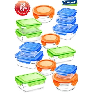 Glasslock 28 Piece Food Container Storage Set