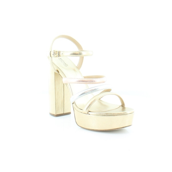 Michael Kors Nantucket Platform Sandals Women's Sandals & Flip Flops PlGld/Silv/Rgold