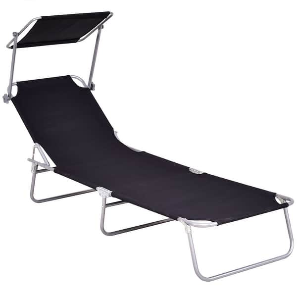 Wondrous Shop Costway Foldable Sun Lounge Bed Chair Beach Recliner Inzonedesignstudio Interior Chair Design Inzonedesignstudiocom