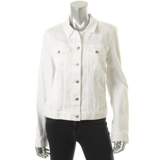 Two by Vince Camuto Womens Cotton Stretch Denim Jacket - M