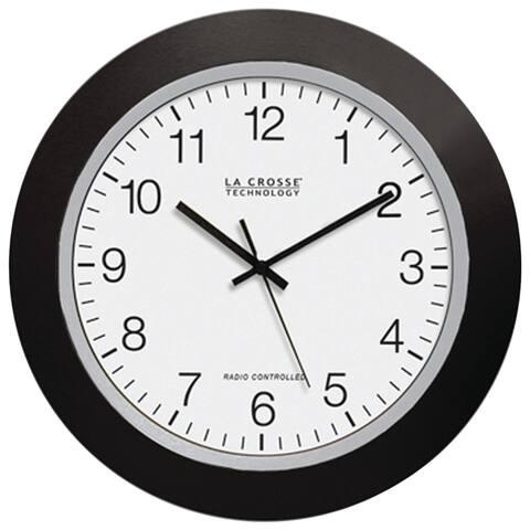 La crosse technology wt-3129b 12 black atomic wall clock