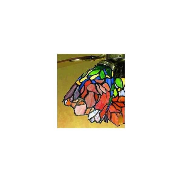 Meyda Tiffany 27482 Stained Glass / Tiffany Fan Light Kit Glassware - tiffany glass