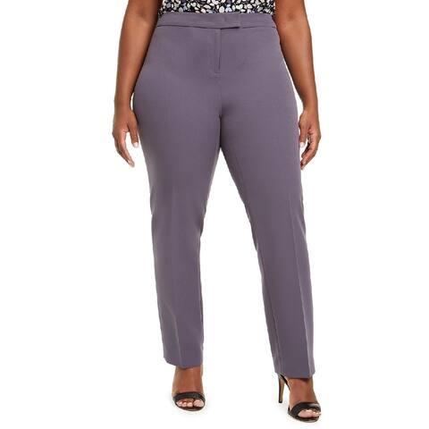 Anne Klein Women's Bowie Stretch Pants Gray Size 8