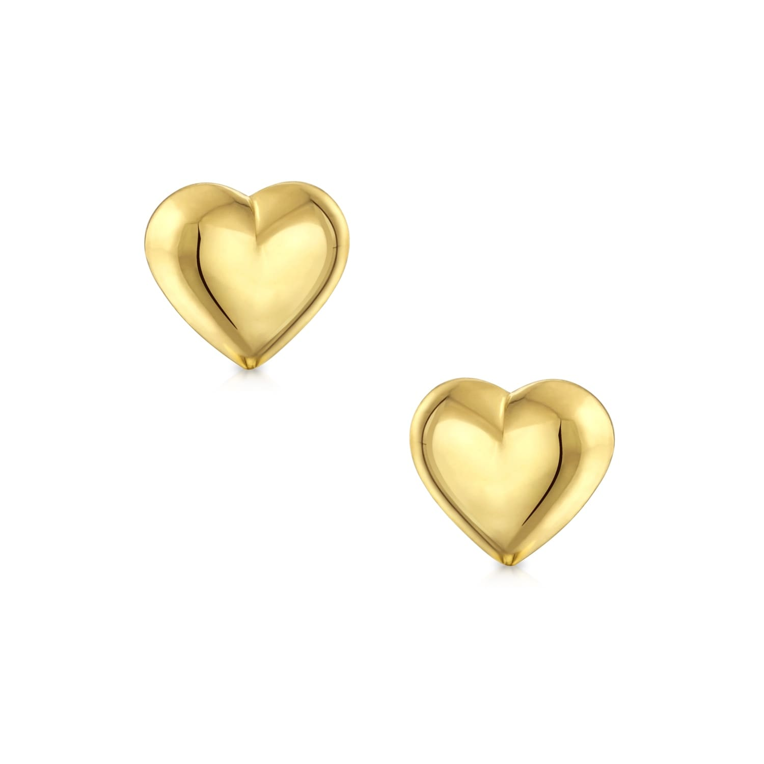 cd0e90c7e Shop Minimalist Tiny Simple Real 14K Yellow Gold Puff Heart Stud Earrings  For Women For Girlfriend 5mm - On Sale - Free Shipping On Orders Over $45  ...