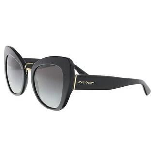 Dolce & Gabbana DG4319 501/8G Black Cat Eye Sunglasses - 51-22-140