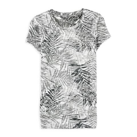 Aeropostale Womens Leaf Logo Graphic T-Shirt