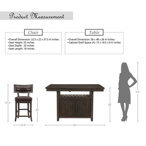 Amsonia 5-Piece Counter Height Dining Set