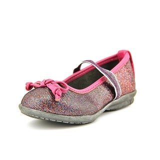 Hush Puppies Flowerhill Toddler Round Toe Synthetic Purple Ballet Flats