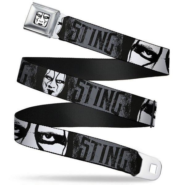 Sting Face Close Up Full Color white Black Sting Face Close Up Gray Black Seatbelt Belt