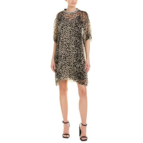 Anna Sui Leopard Silk Shift Dress