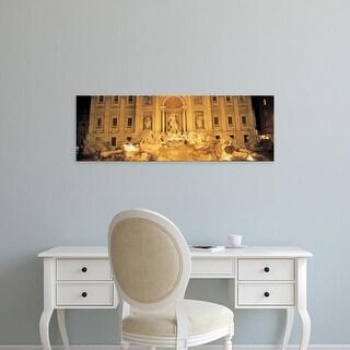 Easy Art Prints Panoramic Images's 'Trevi Fountain Rome Italy' Premium Canvas Art