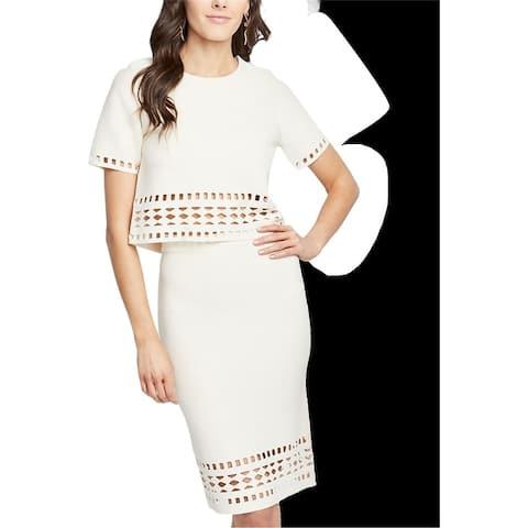 Rachel Roy Womens Cutout Pencil Skirt