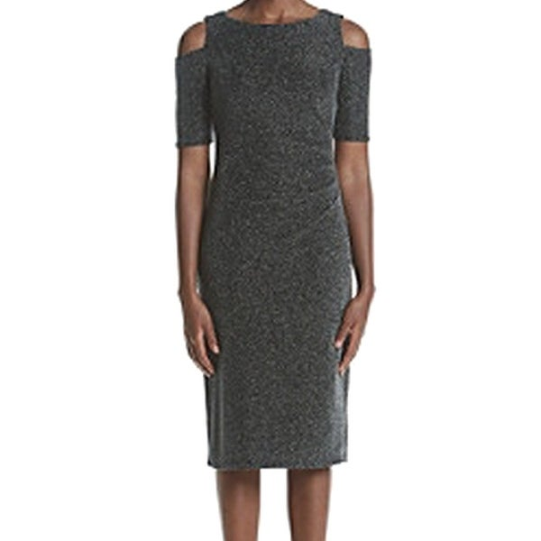 187305e6d6 Shop R M Richards NEW Black Women s Size 8 Sheath Cold-Shoulder Dress -  Free Shipping On Orders Over  45 - Overstock - 20956578