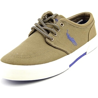 Polo Ralph Lauren Faxon Low Round Toe Canvas Fashion Sneakers