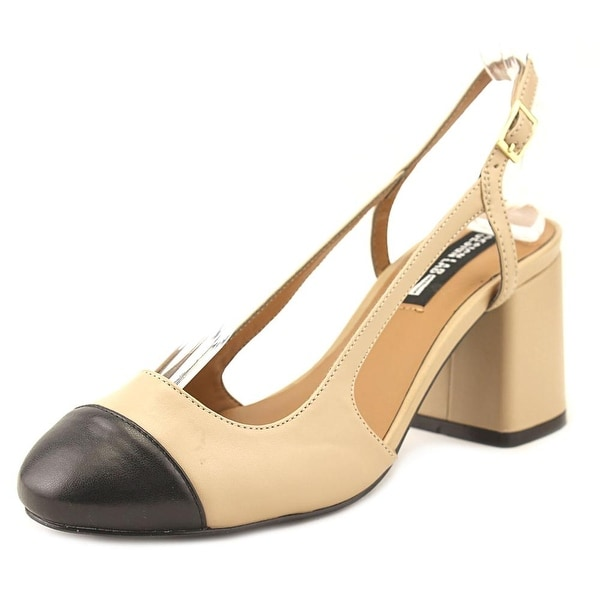 Design Lab Lord & Taylor Tifa Round Toe Leather Slingback Heel