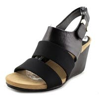 Alfani Womens elleana Leather Open Toe Casual Platform Sandals