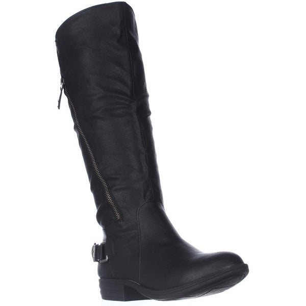 AR35 Asher Wide Calf Riding Boots, Black