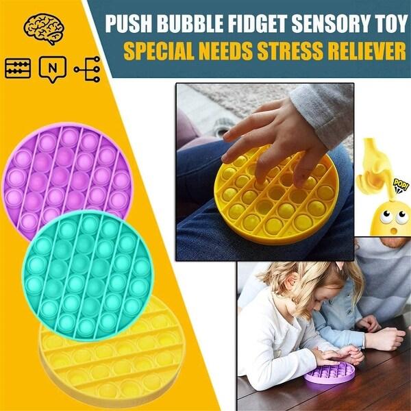 Bubble Sensory Fidget Toy, Stress Reliever Silicone Stress Reliever Toy, Squeeze Sensory Toy. Opens flyout.