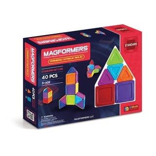 Magformers Opaque Rainbow Solids 40 Piece Set