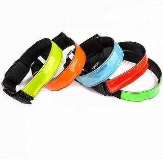 Image LED Reflective Armband Safety Band Bracelet Strap for Running Cycling