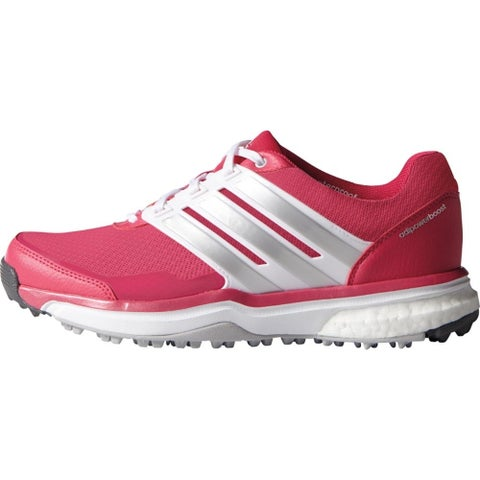 Adidas Women's Adipower Sport Boost 2 Raspberry Rose/FTWR White/Matte Silver Golf Shoes F33291
