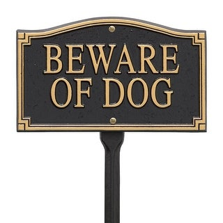 "Whitehall ""Beware of Dog"" Statement Marker Finish: Black and Gold"