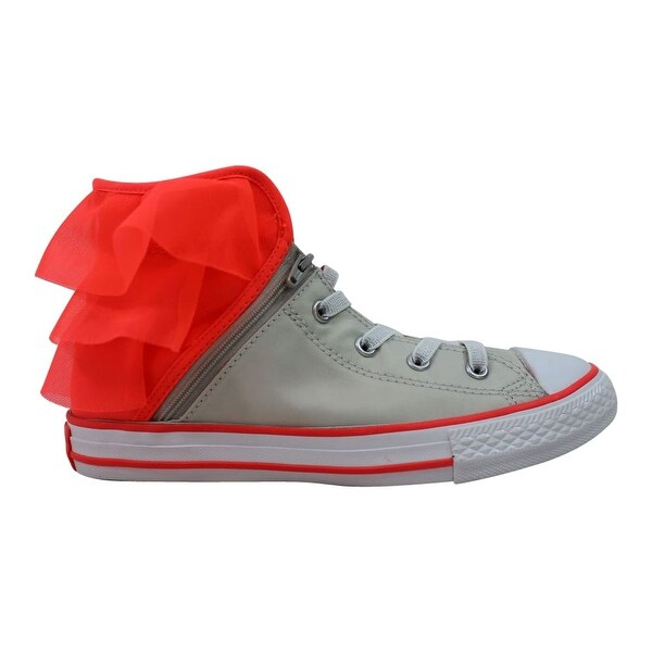 8615c677006258 Converse Chuck Taylor All Star Block Party Hi Pure Silver Hot Punch-White  658060F