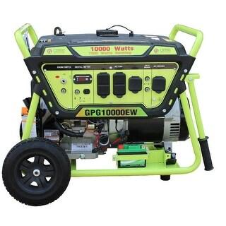 Green Power 10000-Watt Gas Generator, Elec. Start w/Battery LCT Engine - N/A