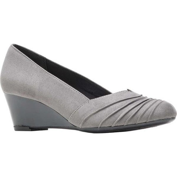 c5b377d43 Shop Soft Style Women s Gerdie Wedge Pump Dark Grey Faux Suede - On ...