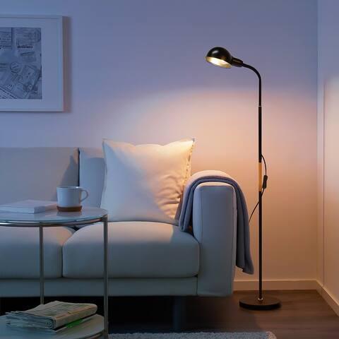 Modern Floor Lamp Adjustable Readling Standing Lamp Indoor Pole Light - 49in+20in