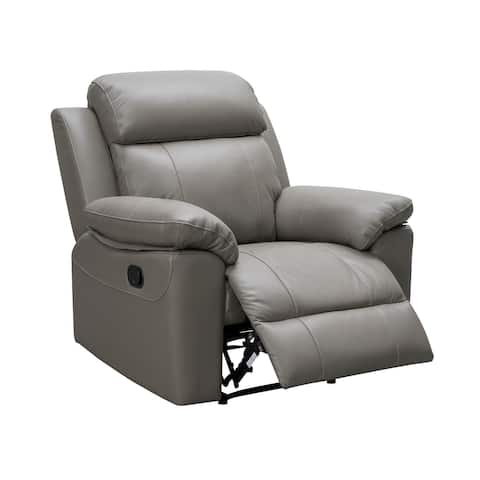Abbyson Braylen Top Grain Leather Recliner