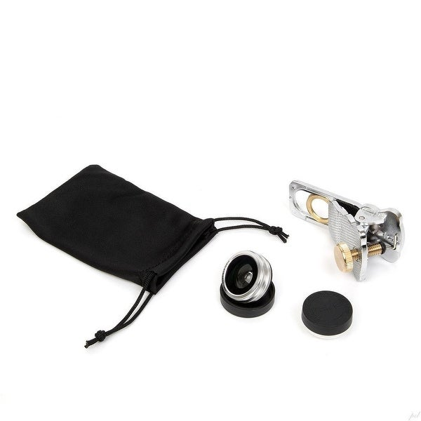 Camera Lens Kit for iPhone & other Smartphones - 180° Fisheye Lens, Macro Lens, Wide Angle Lens & a Universal Clip (Silver)