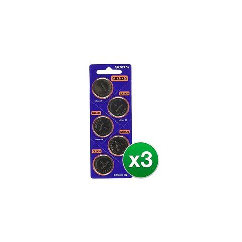15ct Sony CR2430 3V 300mAh Coin Cell Button Lithium Batteries CR 2430